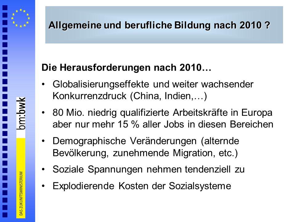 Allgemeine und berufliche Bildung nach 2010