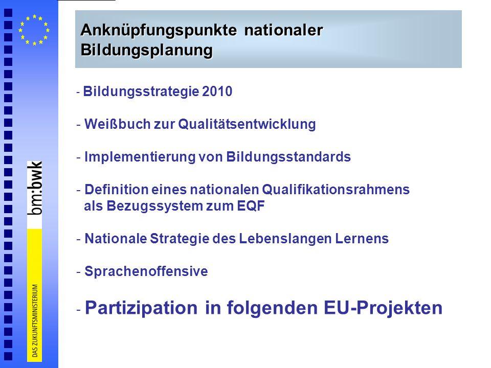 Anknüpfungspunkte nationaler Bildungsplanung