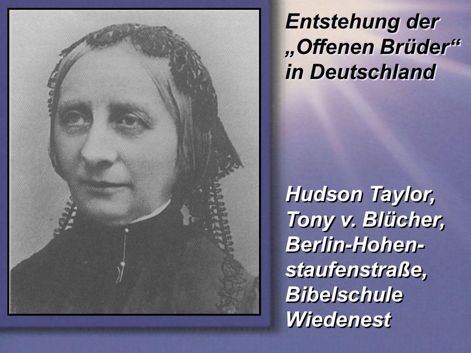 """Entstehung der """"Offenen Brüder in Deutschland"""