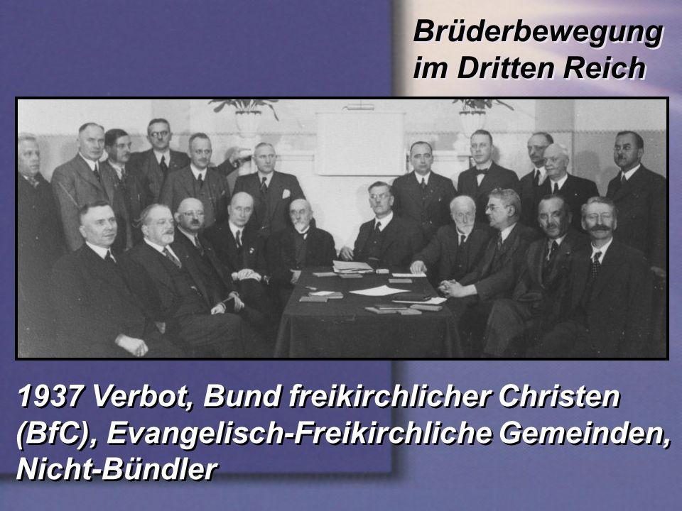 Brüderbewegung im Dritten Reich