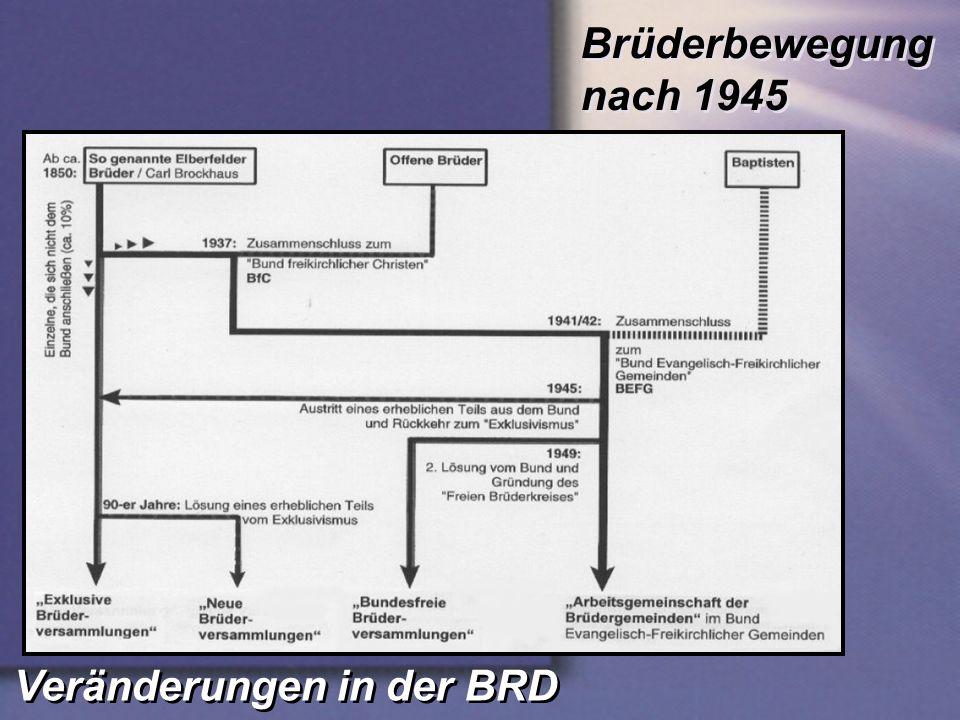 Brüderbewegung nach 1945 Veränderungen in der BRD