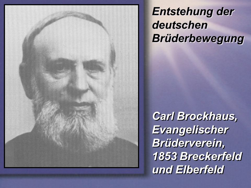Entstehung der deutschen Brüderbewegung