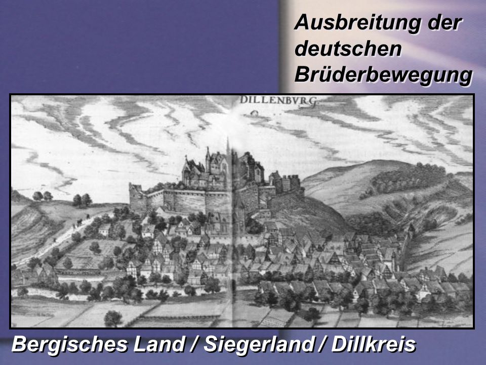 Ausbreitung der deutschen Brüderbewegung