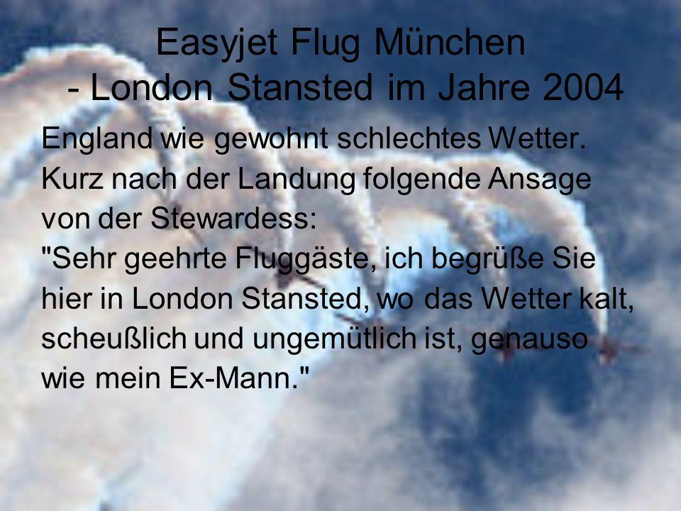 Easyjet Flug München - London Stansted im Jahre 2004