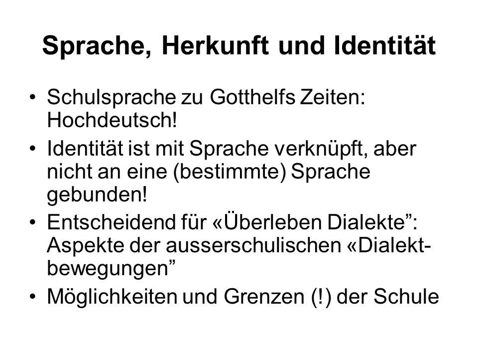 Sprache, Herkunft und Identität