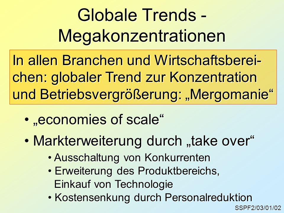 Globale Trends - Megakonzentrationen