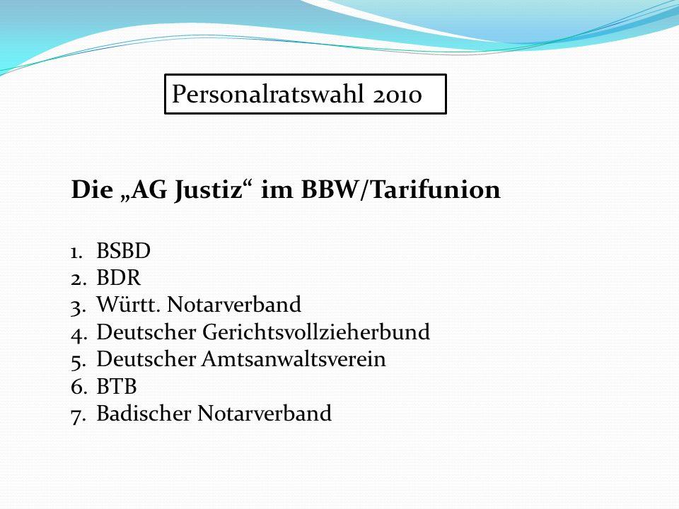 "Die ""AG Justiz im BBW/Tarifunion"