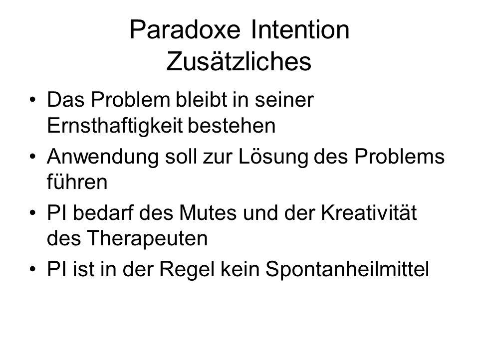 Paradoxe Intention Zusätzliches