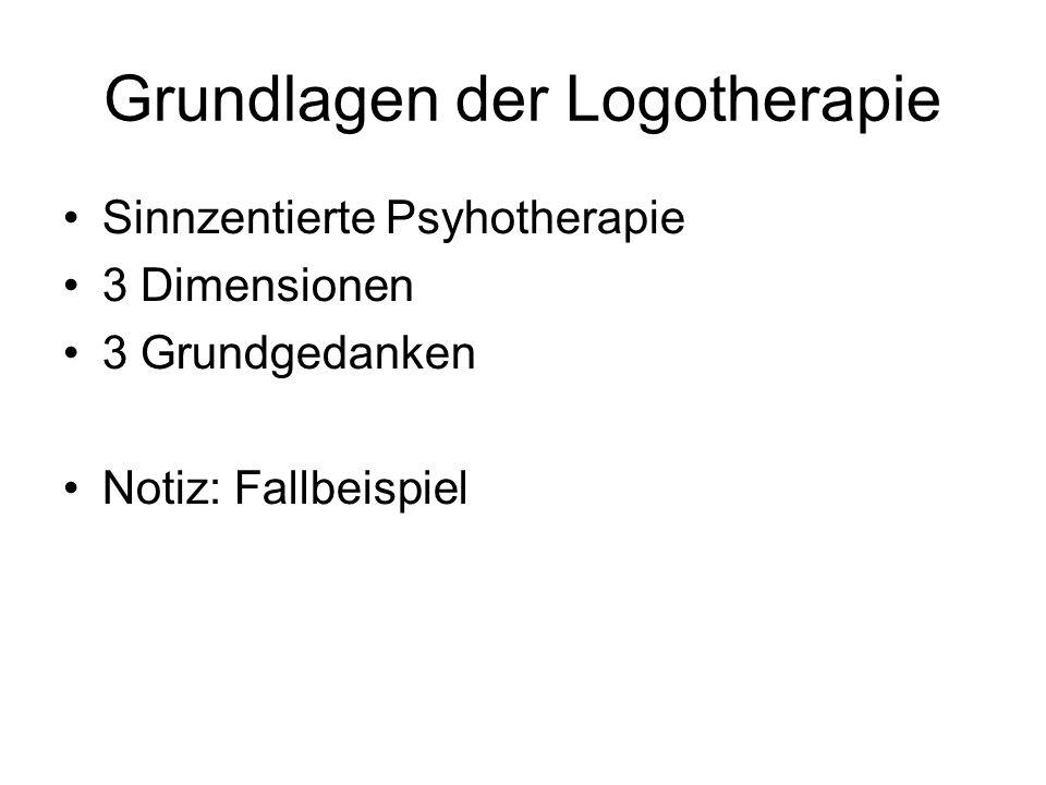 Grundlagen der Logotherapie