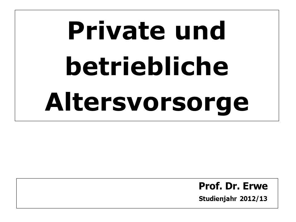 Private und betriebliche Altersvorsorge