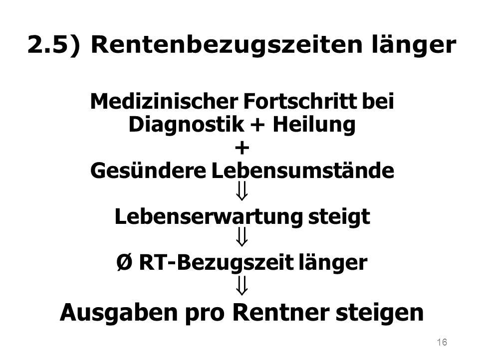 2.5) Rentenbezugszeiten länger