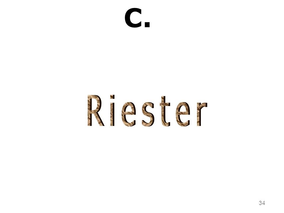 C. Riester 34