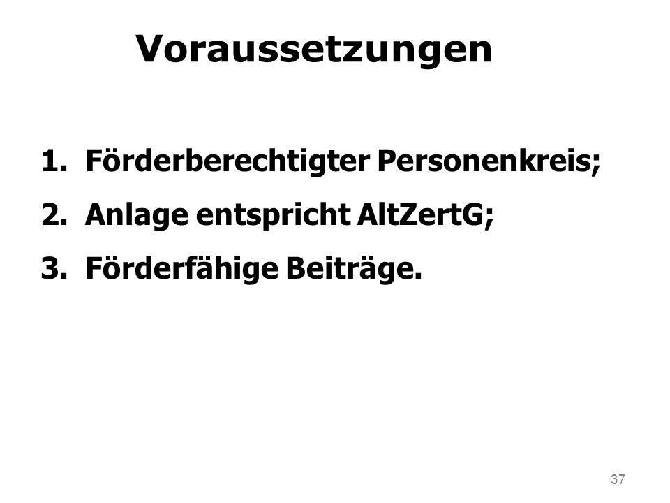 Voraussetzungen Förderberechtigter Personenkreis;