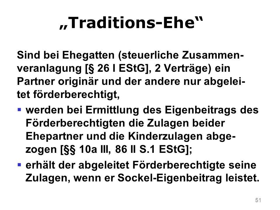 """""""Traditions-Ehe Sind bei Ehegatten (steuerliche Zusammen-"""