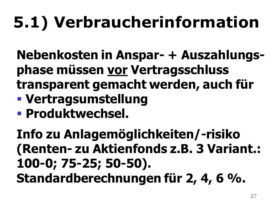 5.1) Verbraucherinformation