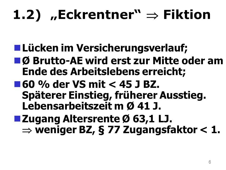 """1.2) """"Eckrentner  Fiktion"""