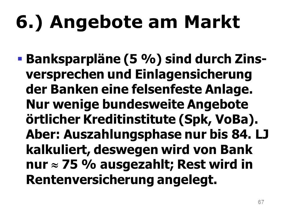 6.) Angebote am Markt
