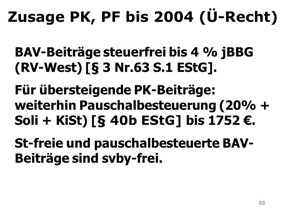 Zusage PK, PF bis 2004 (Ü-Recht)