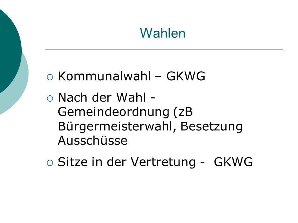 Wahlen Kommunalwahl – GKWG