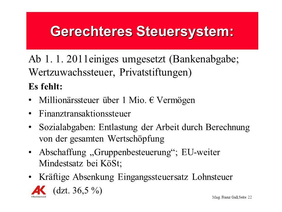 Gerechteres Steuersystem: