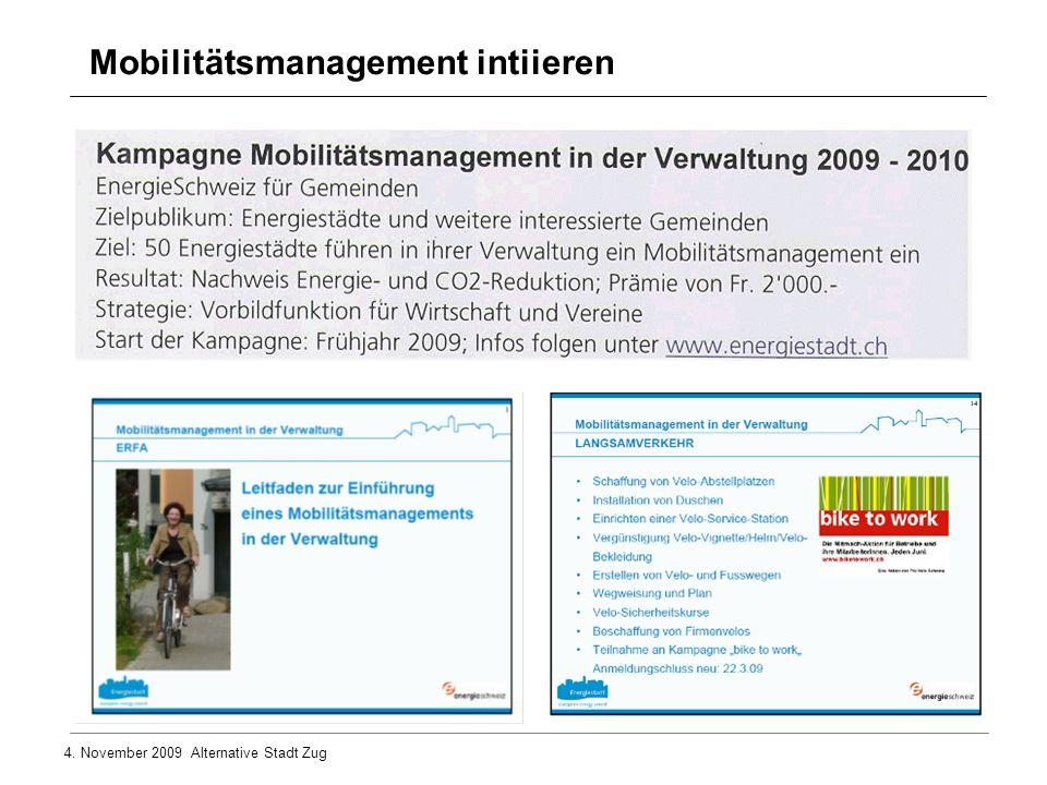 Mobilitätsmanagement intiieren