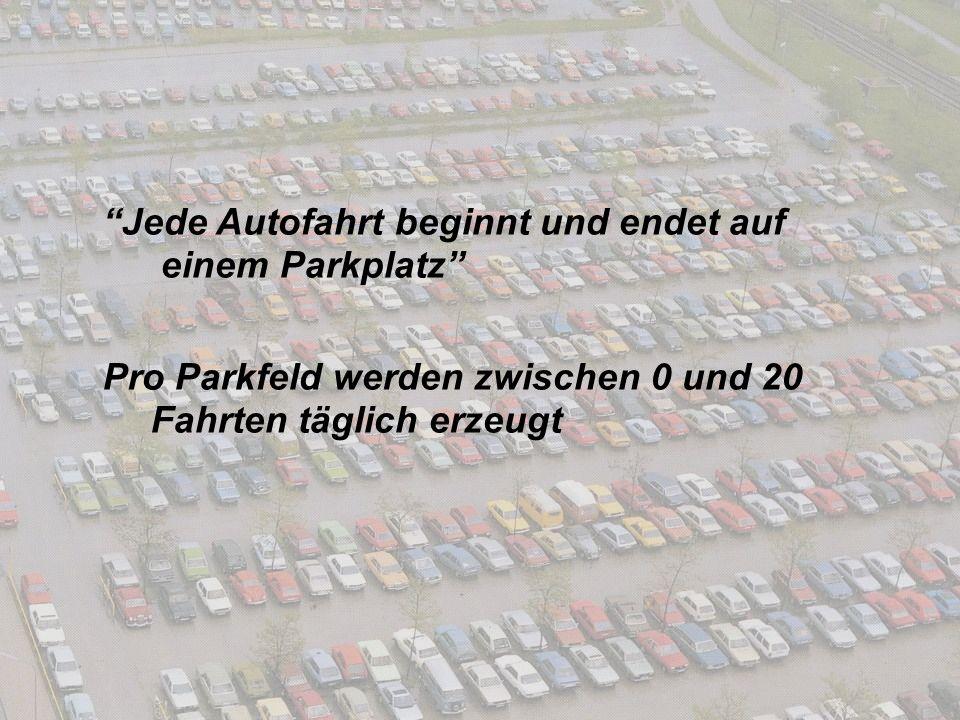 Jede Autofahrt beginnt und endet auf einem Parkplatz