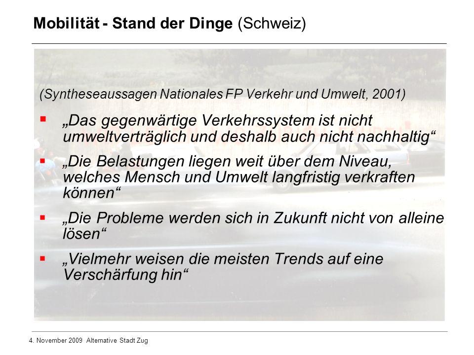 Mobilität - Stand der Dinge (Schweiz)
