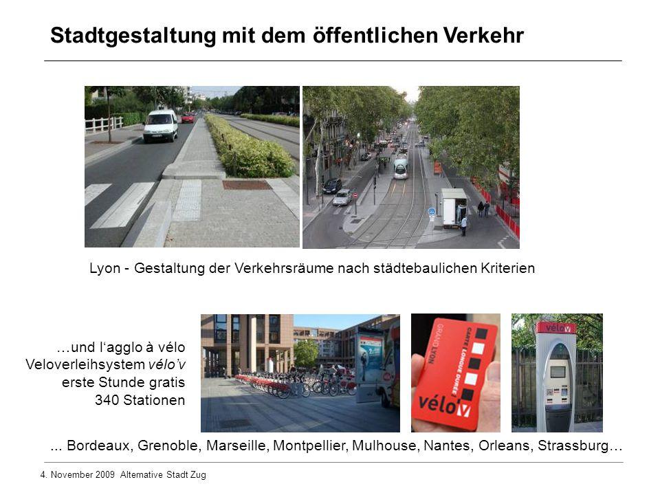 Lyon - Gestaltung der Verkehrsräume nach städtebaulichen Kriterien