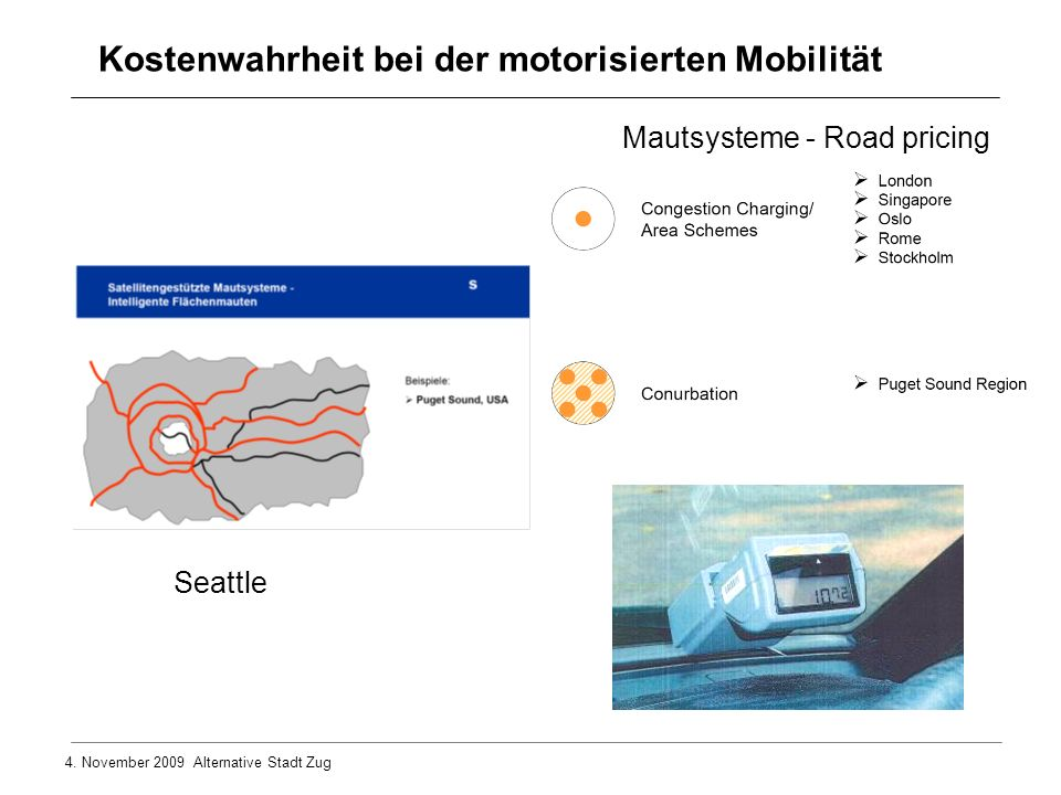 Kostenwahrheit bei der motorisierten Mobilität