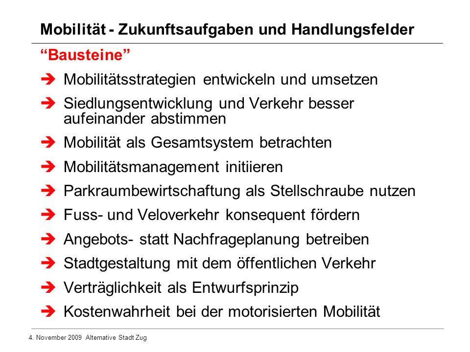 Mobilität - Zukunftsaufgaben und Handlungsfelder