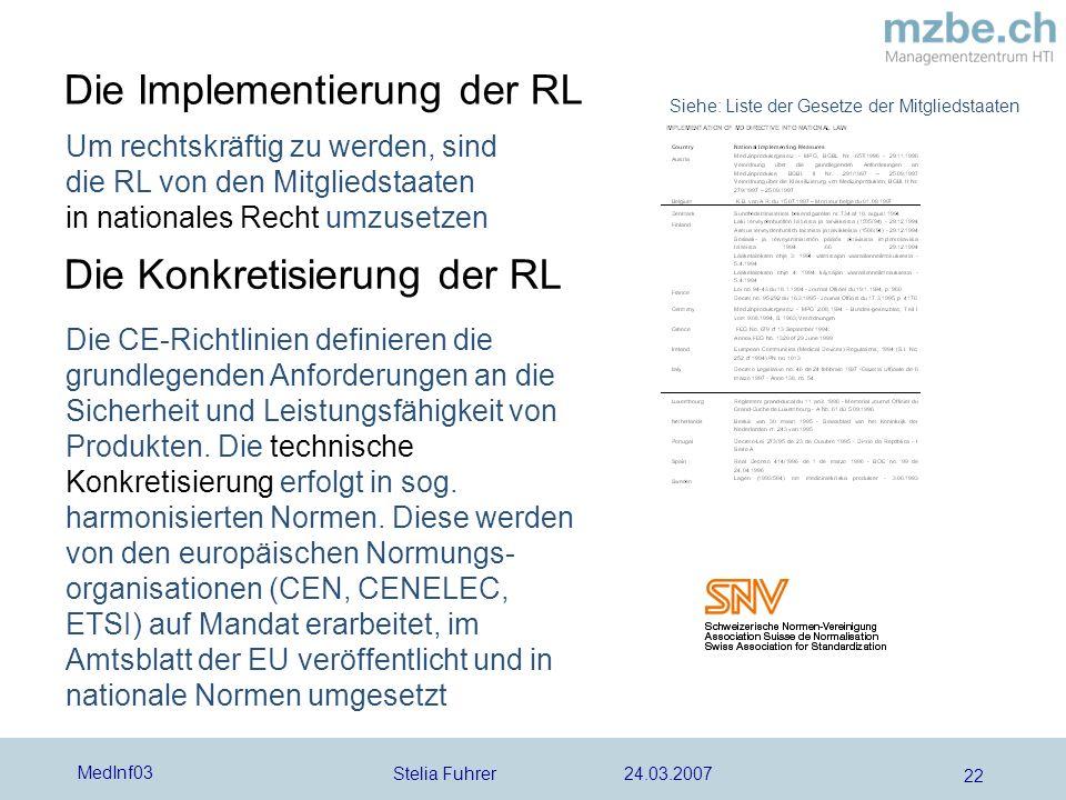Die Implementierung der RL