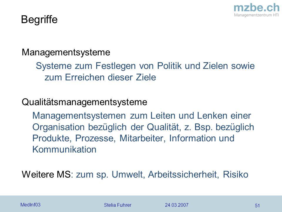 Begriffe Managementsysteme