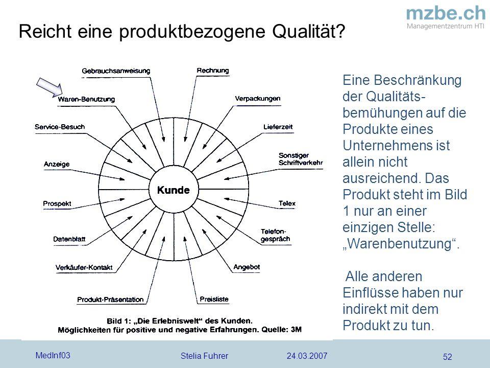 Reicht eine produktbezogene Qualität