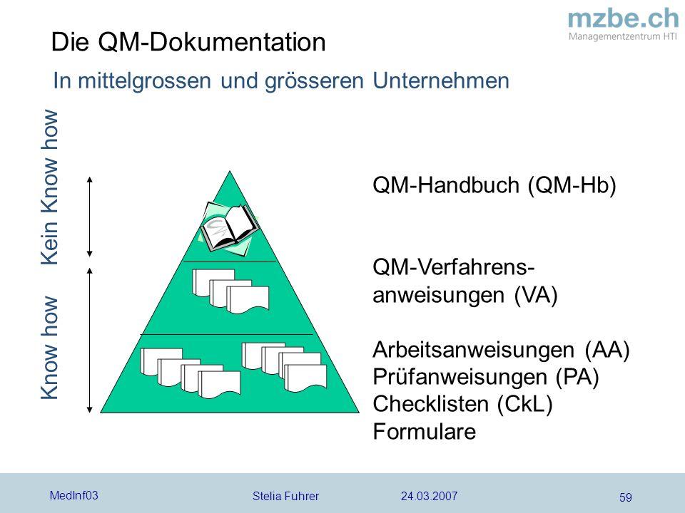 Die QM-Dokumentation In mittelgrossen und grösseren Unternehmen