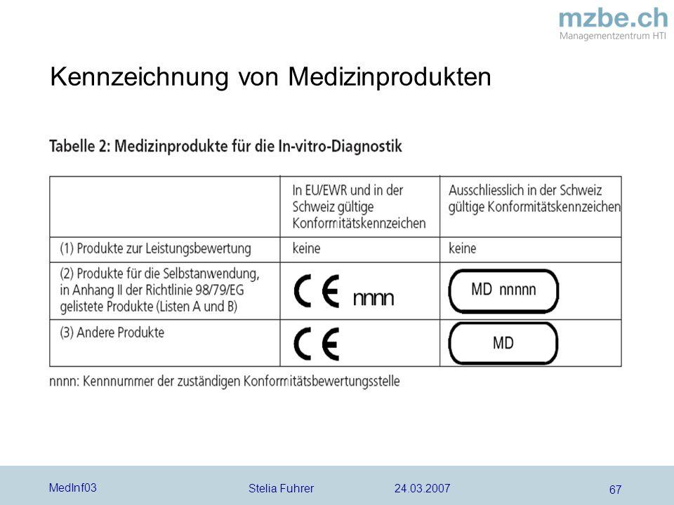 Kennzeichnung von Medizinprodukten