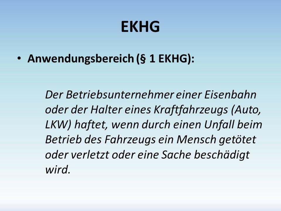 EKHG Anwendungsbereich (§ 1 EKHG):