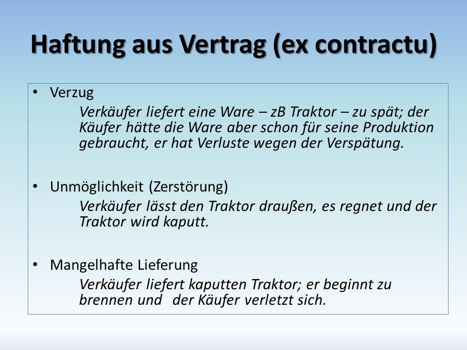Haftung aus Vertrag (ex contractu)