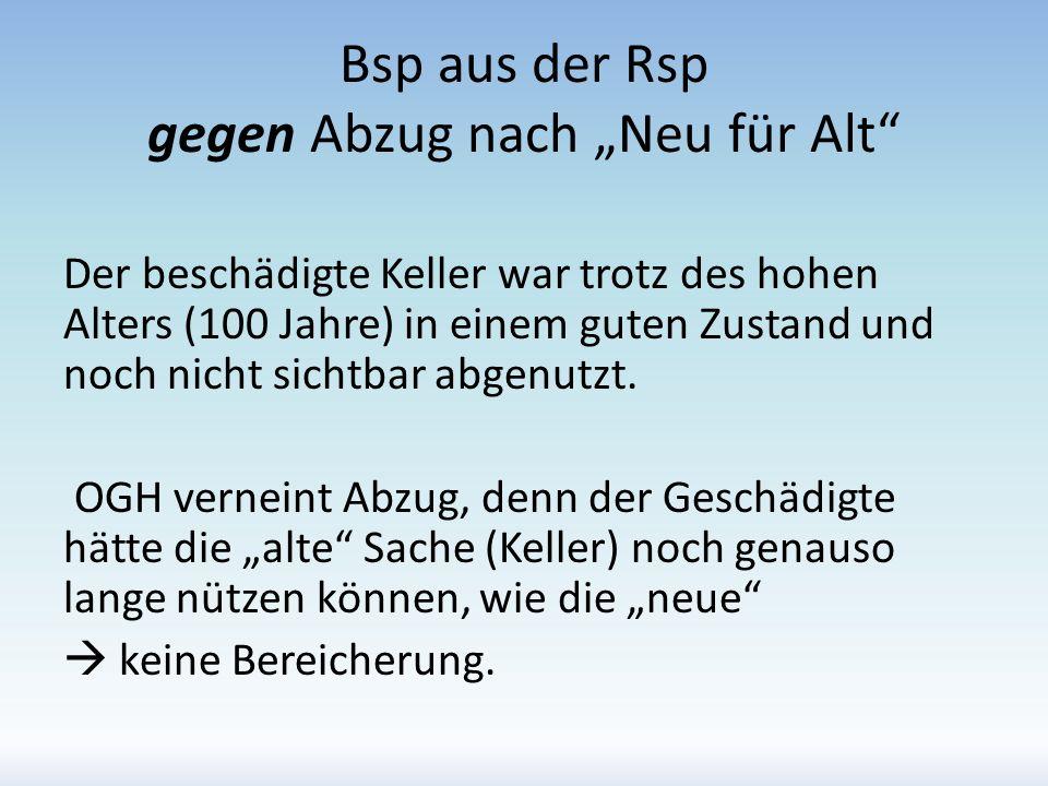 """Bsp aus der Rsp gegen Abzug nach """"Neu für Alt"""