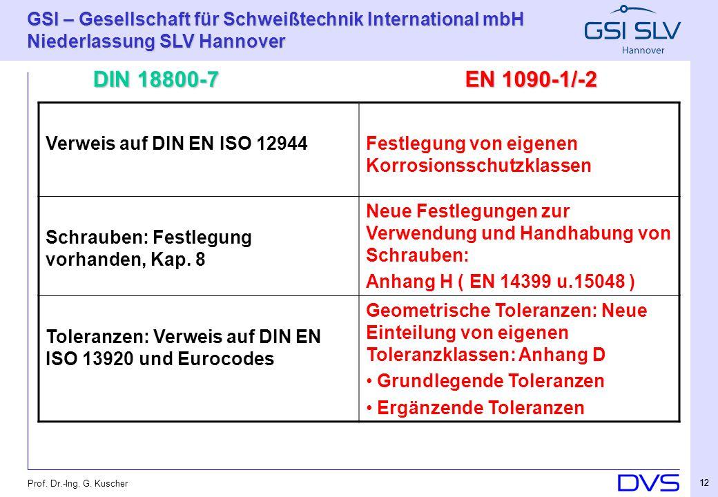 DIN 18800-7 EN 1090-1/-2 Verweis auf DIN EN ISO 12944
