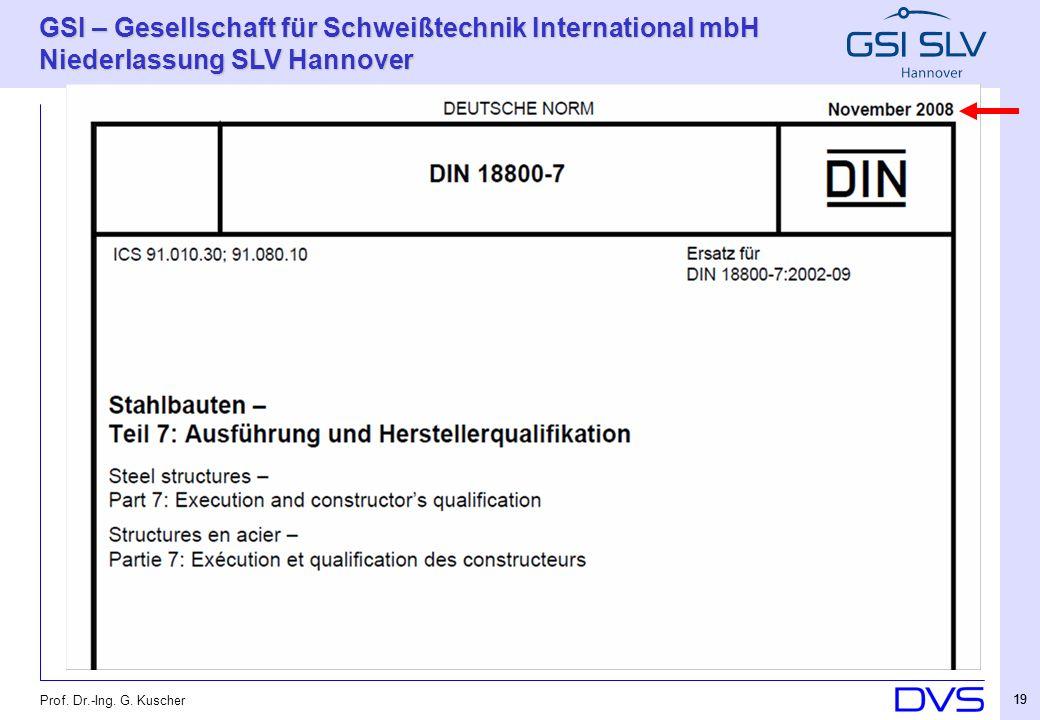 Prof. Dr.-Ing. G. Kuscher 19