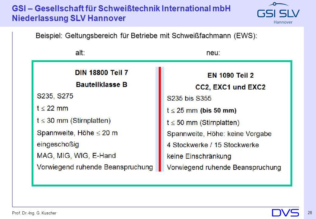 Beispiel: Geltungsbereich für Betriebe mit Schweißfachmann (EWS):