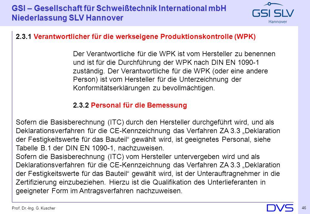 2.3.1 Verantwortlicher für die werkseigene Produktionskontrolle (WPK)