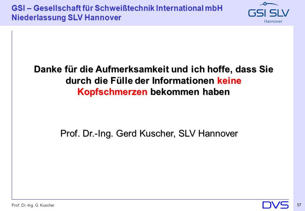 Prof. Dr.-Ing. Gerd Kuscher, SLV Hannover