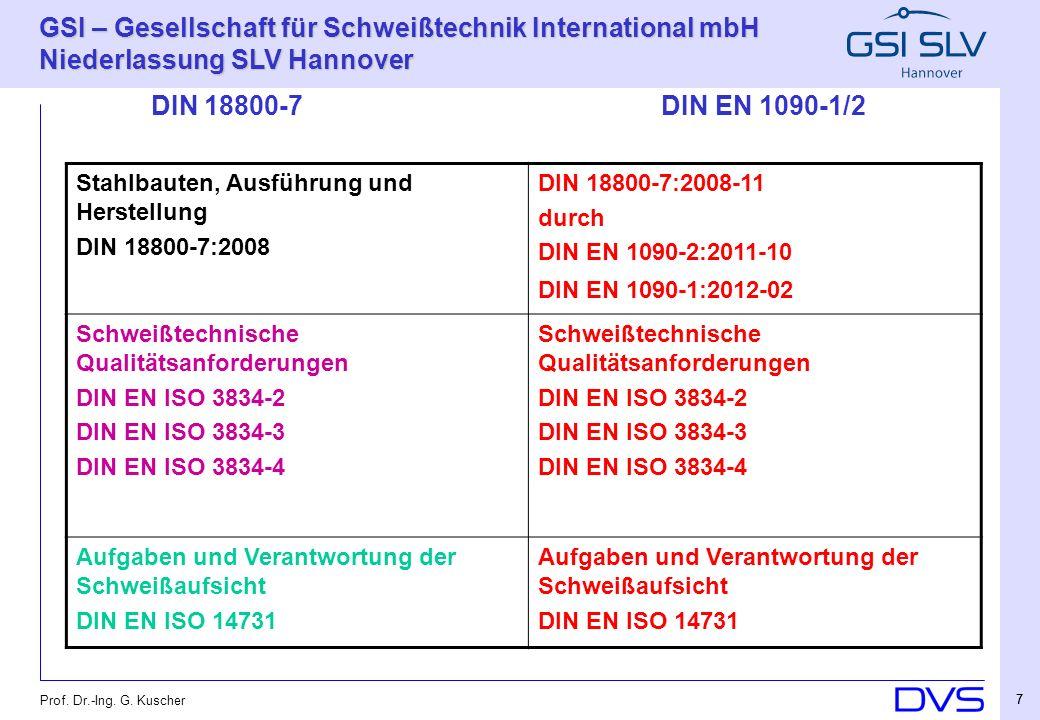 Stahlbauten, Ausführung und Herstellung DIN 18800-7:2008