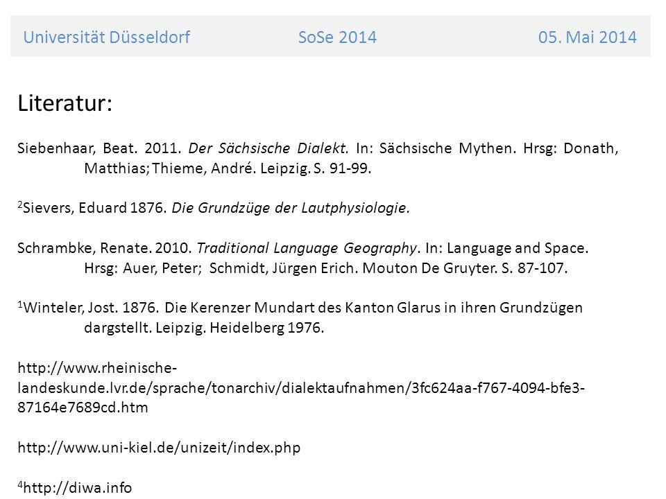 Universität Düsseldorf SoSe 2014 05. Mai 2014