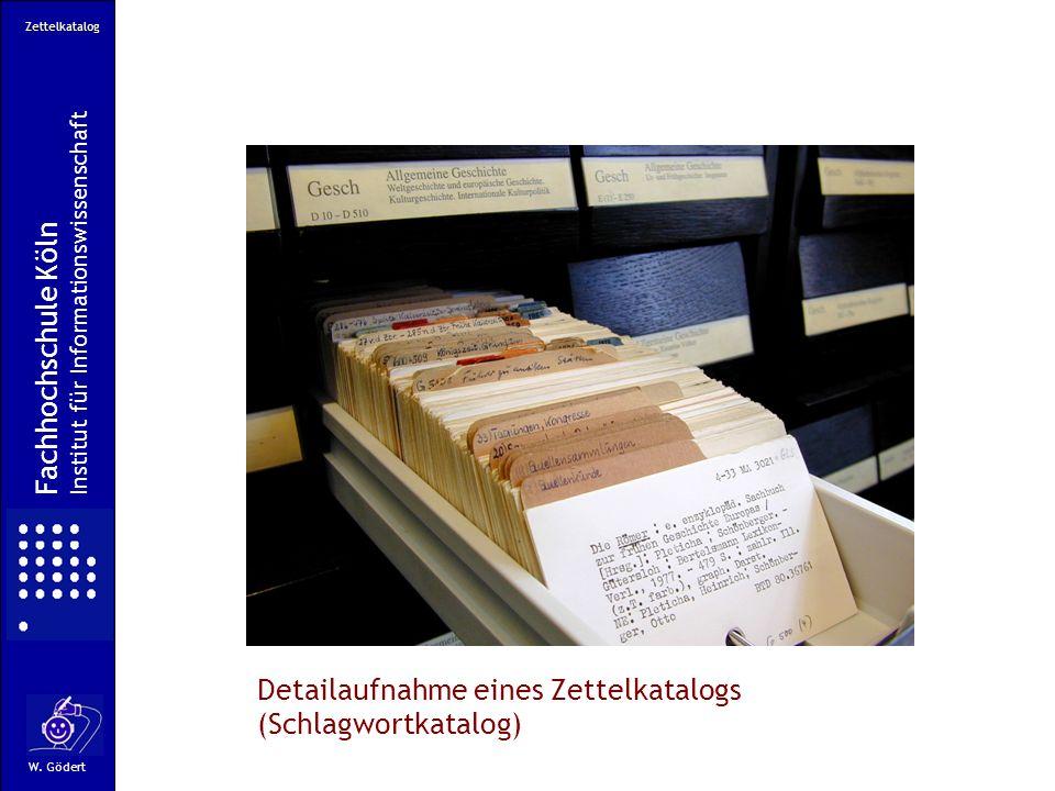 Detailaufnahme eines Zettelkatalogs (Schlagwortkatalog)