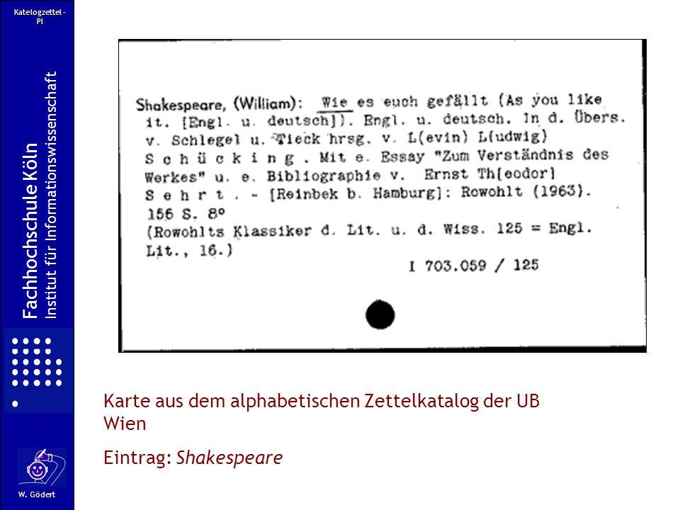 Karte aus dem alphabetischen Zettelkatalog der UB Wien