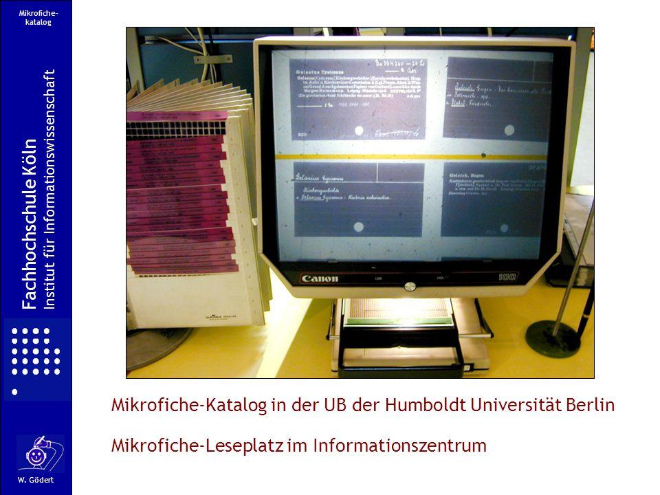 Mikrofiche-Katalog in der UB der Humboldt Universität Berlin