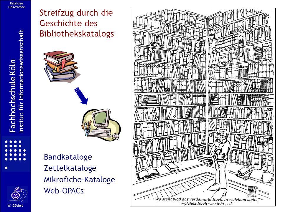 Streifzug durch die Geschichte des Bibliothekskatalogs