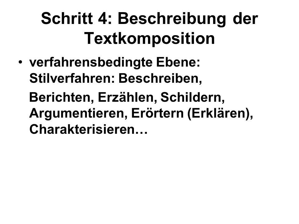Schritt 4: Beschreibung der Textkomposition